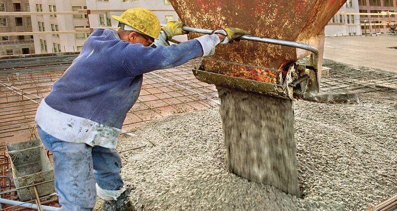 выгрузка товарного бетона